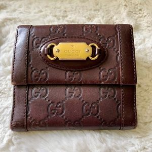 GUCCI French Wallet Guccisimo logo leather